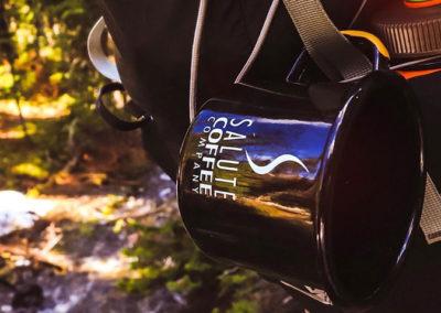 Enamel Camp Coffee Mug available at Salute Coffee Company Sudbury ON