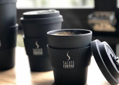E-coffee Cups available at Salute Coffee Company Sudbury ON